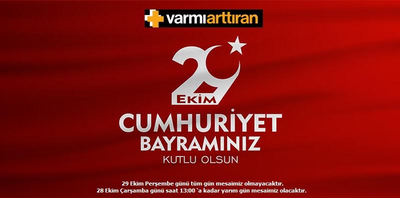 29 Ekim Cumhuriyet Bayramı Kutlu Olsun !