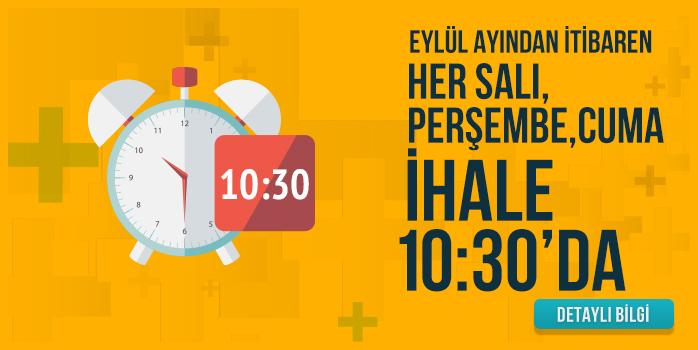 Eylül ayından itibaren Cuma İhalemiz de artık 10:30 ' da başlayacaktır.